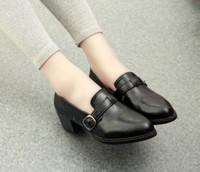 2014 spring elegant ol round toe black leather hasp tooling single shoes female leather