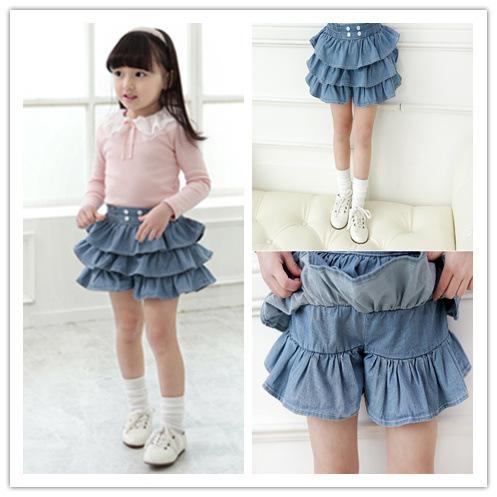 Как сшить юбку для девочки из джинса 4