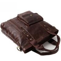 Business Casual Genuine Leather Handbags  Fashion 2014 New Style Cowhide Leather Men Handbag Vintage Briefcase Shoulder Bags