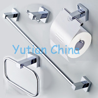 Free shipping,304# Stainless Steel Bathroom Accessories Set,Robe hook,Paper Holder,Towel Bar,Towel ring,bathroom sets,YT-10700-A