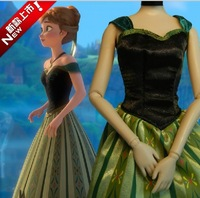 2014 New And Cheap! The Costume Dress Of Princess Anna  in Elsa's Oronation From The Movie frozen For women