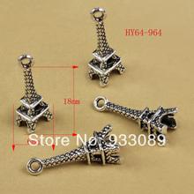 64-964  Free Shipping! 50PCs Tibetan Silver 3D Eiffel Tower Charms Pendants Craft