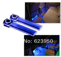 4LED 12V Car Charge Glow Interior Decorative light BLUE Car Atmosphere lamp Whole sale, Car led ligh