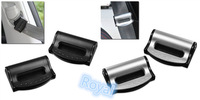 NEW PAIR BLACK SILVER ABS PLASTIC VEHICLE SAFETY SEAT BELT STRAP BUCKLE CLIP CLASP ADJUSTER ADJUSTABLE FOR CAR TRUCK SUV BUS VAN