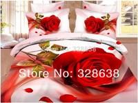 Free UPS FedEx decorative flowers bed covers for wedding bedding set edredon comforter/duvet cover set bedclothes bed linen set