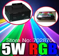Factory sale!5000mW 5W RGB PT40K pps Animation DMX512 ILDA DJ Party Disco Club Stage Laser Light +Pangolin Quickshow software