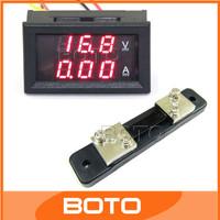 DC 0-100V 50A Red LED Volt Amp Meter  2in1 DC Voltmeter Ammeter Digital Panel Meter With Shunt Resistance #200940