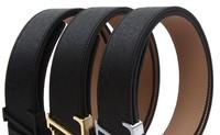 HOt sell classic brand designs V belt for men,100% Genuine leather letter buckle black belt, women's High quality casual belt