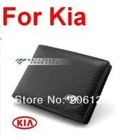 Genuine Leather License Bag For KIA K2 K3 K5 Sportage R Forte ceed RIO Optima Soul wallet purse notecase Car Logo