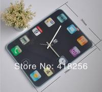 Free shipping Piguyake force mute wall clock DIY fashion brand mobile phone creative clock / watch