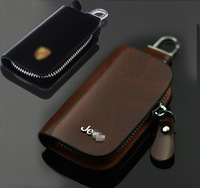 Genuine Leather Remote Control Bag car key wallet key cover for jeep