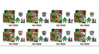 NEW LELE 8PCS LargeHulk & 8PCS Super heros building Block bricks sets Minifigure Star wars toys action figure toys free ship