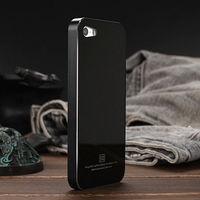 luxury 5S Ultrathin tempered glass back cover ,brand metal Aluminum frame case For apple iPhone 5 5S 5G Phone Bag