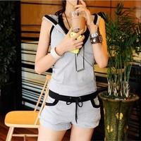 Piece set women's thin summer female sportswear 2014 fashion short-sleeve casual set