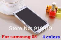 Luxury Bling Bling Diamond Aluminum Bumper Case For Samsung s5 free shipping