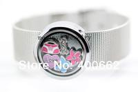 10pcs 18mm width 316L stainless steel belt floating charms 28mm glass locket  bracelet
