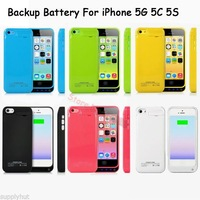 8 color 2200mAh External Rechargeable Backup Battery Power Charger Case Cover for iphone 5 5G 5S 5C with stand retails package
