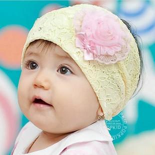 2015 HOT!!!Freeshipping Baby wig belt baby hair bands wigs child hair accessory hair accessory heart flower(China (Mainland))
