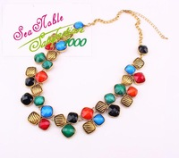 New 2014 Factory Outlet European  Retro  Exaggerated Geometric Necklaces Chokers Fashion Jewlery S193