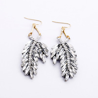 [Clear inventory] only 1 pari in stock Fashion Brand Jewelry Women's earrings clear rhinestone crystal earrings cheap price