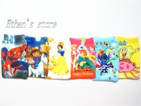 Free Shipping Kids Princess&Spiderman&Mario&Dora&SpongeBob SquarePants mobile sock case lots Mix color