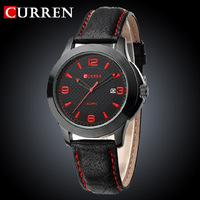 2014 New Hot Men Sports Watches Leather Strap Wristwatch Fashion Casual Military Men Quartz Business Relogio Waterproof Curren