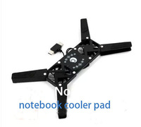 USB Double  Connector & Double Fan Cooler Pad Folding  Notebook Cooling Cooler Free Shipping