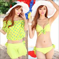 2014 new Bikini/ 4 piece set swimwear/ plus size swimwear