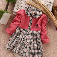 Free shipping !Spring & Autumn  New Fashion  Classic England  Scottish plaid Cotton  Long-sleeved shirt cardigan for girls 2014