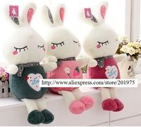 Super deal Cute rabbits plush toys doll for girls/children,Birthday, wedding, Valentine's Day gifts 1pcs& free gift
