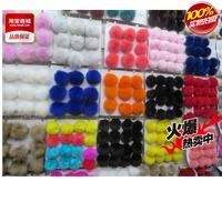 Large fox fur ball mobile phone chain car bags pendant keychain 10