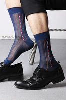 Male formal nylon stockings tnt stockings high quality ultra-thin male stockings old fashioned nylon stripe stockings