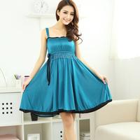 Hot-selling 2014 summer viscose spaghetti strap nightgown female temptation princess sexy nightgown viscose sleepwear lounge