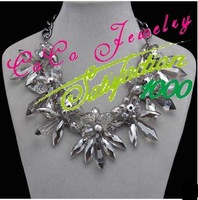 Crystal Flower Shourouk Rhinestone Long Luxury Necklaces & Pendants New 2014 Fashion  Jewelry Gift  Wholesale C16