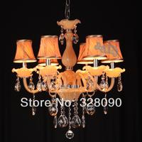 Free Shipping European style crystal Pendant Lights ,6 lamp holder ,Apply restaurant &bedroom
