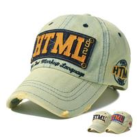 Free shipping  spring and summer autumn retro  denim baseball cap edging breathable sun-shading female casual cap hat