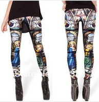 2014 spring high-end digital printing pattern pantyhose leggings church Legging skull pants
