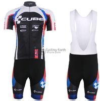 2014 NEW! CUBE short sleeve cycling jersey bib shorts set bike bicycle wear clothes jersey pants,Free shipping!