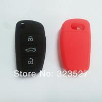 100pc/lot 3 button folding flip remote key case cover for Audi A6,A6L,A4L,A8,TT,Q7 key shell cover replace key without logo