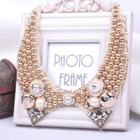 New 2014 Handmade Punk Exaggerated False Collar Bead Necklaces Chokrs Fashion Jewelry