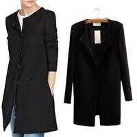 2014 spring new fashion women  Slim thin solid minimalist luxury windbreaker jacket top quality