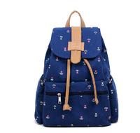 2014 Girls Printing Backpack Women's Student school bag canvas shoulder backpack bag female