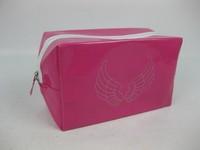 Fashion pvc cosmetic bag women's advanced mirror leather bag leather handbag storage bag
