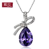 Crystal necklace female short design decoration chain fashion big drop accessories 253