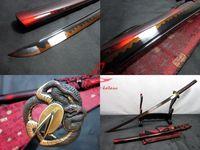 Clay tempered T-10steel adsorb tungsten blade snake tsuba katana sword sharpened