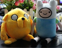 "Two Pcs/lot New FINN & JAKE Adventure Time Soft Plush Toy Dolls  20-32 CM/ 7""-8"" Bonecos Pelucia Jake E Finn Hora Da Aventura"