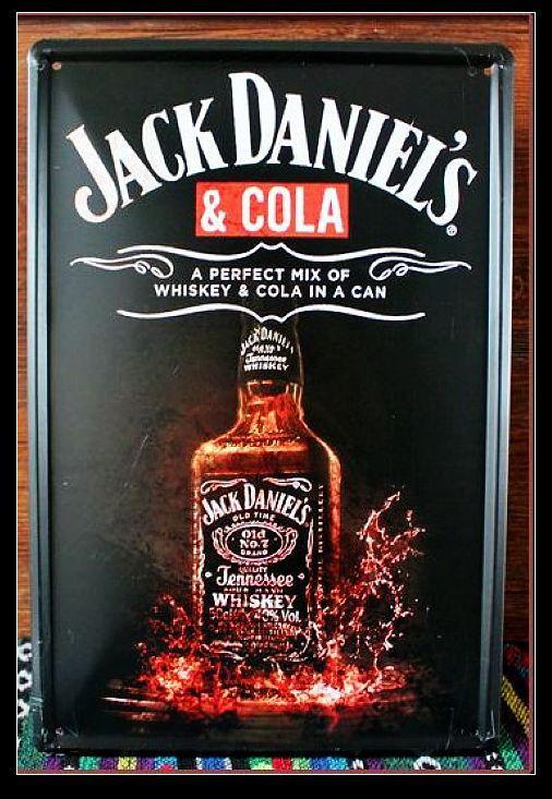 Vintage Jack Daniel's painting Tin Sign Metal Poster Fit For BAR PUB HOME Decoration L-63 20*30 CM(China (Mainland))