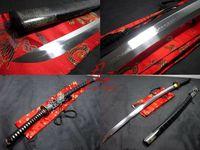 Clay tempered katana dragon tsuba choji hamon blade sharpened