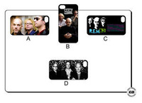 10pc new R.E.M. REM ROCK BAND Hard Back Cover Case for iPhone 4 4S