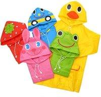 5pcs/lot Hot kids Linda Funny rainwear Children Cartoon animal rain coat rainsuit  Cloak poncho baby raincoat rain wear